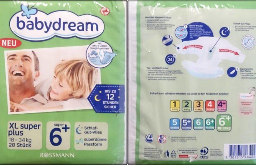 Testpackung Babydream Größe 6 XL super plus