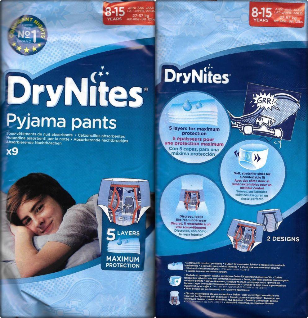 Testpackung DryNites Pyjama Pants 8-15 Jahre Boys