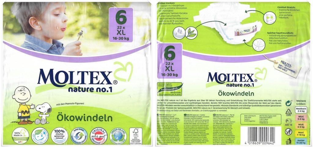 Testpackung Moltex nature No. 1 Ökowindel Größe 6