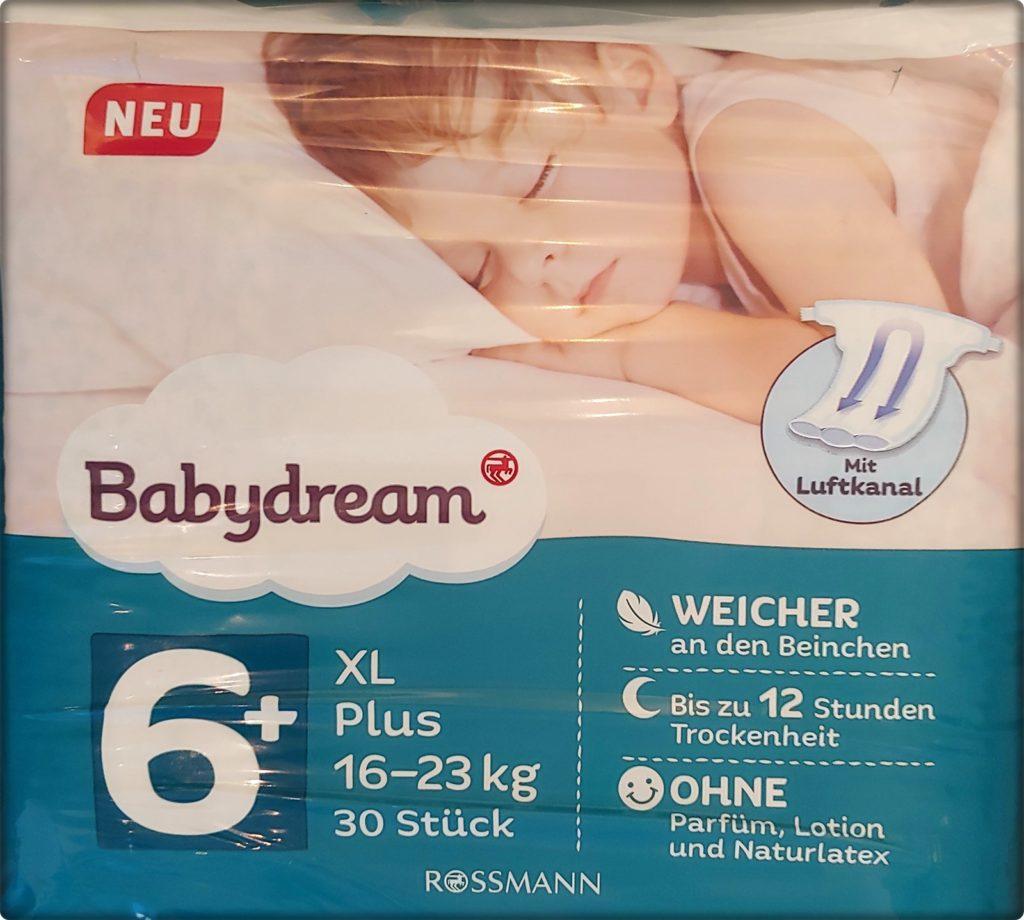 Einzelpackung Babydream Windeln Größe 6 plus XL Vorderseite