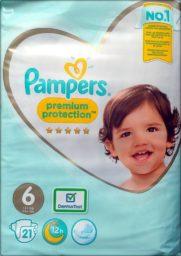 Pampers premium protection Größe 6