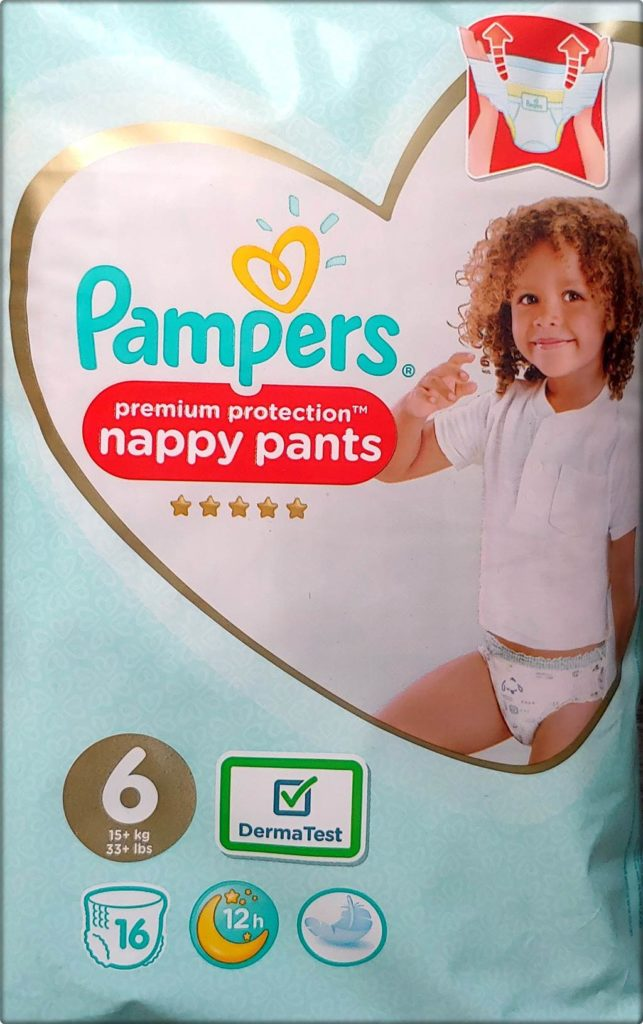 Pampers premium protection nappy pants Größe 6