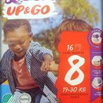 Einzelpack Libero Up&Go Pants Größe 8 Vorderseite