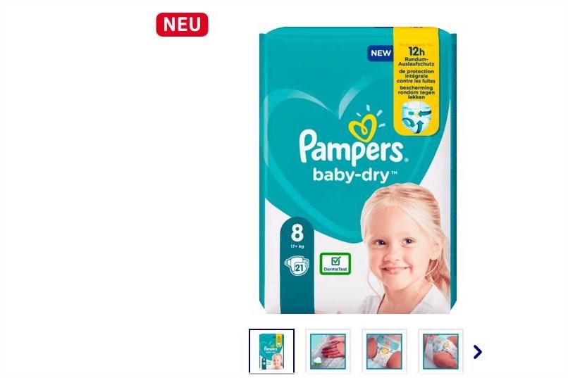 Neue Pampers baby dry Größe 8 jetzt erhältlich