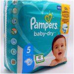 Einzelpack Pampers baby-dry Größe 5 Vorderseite