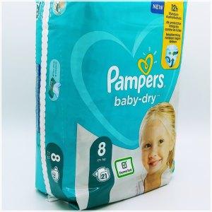 Einzelpack Pampers baby-dry Größe 8 Vorderseite
