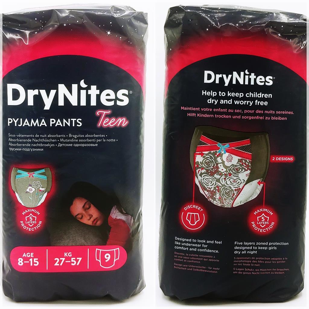 Einzelpack DryNites Pyjama pants for Girls 8-15 Years