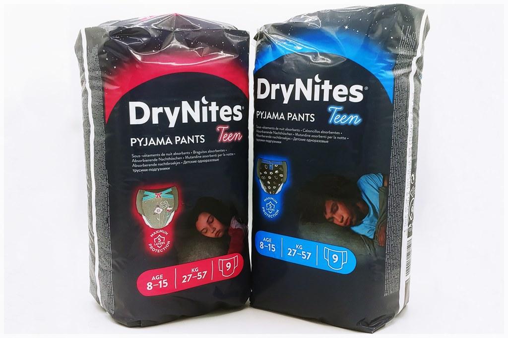 Einzelpack Vorderseite der DryNites Pyjama pants for Girls and Boys 8-15 Years