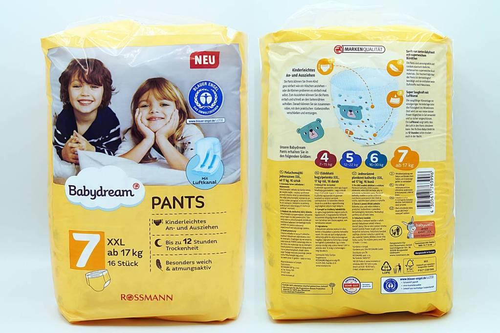 Cover der Babydream Pants Größe 7 XXL