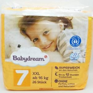 Einzelpackung Babydream Windeln Größe 7 XXL