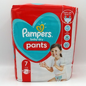 Einzelpackung Pampers baby-dry Pants Größe 7 Cover