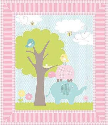 springs creative sweet meadow nursery baby quilt panel fabric