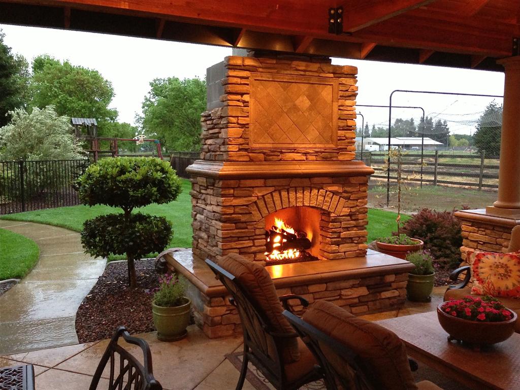 Brick Outdoor Fireplace Diy