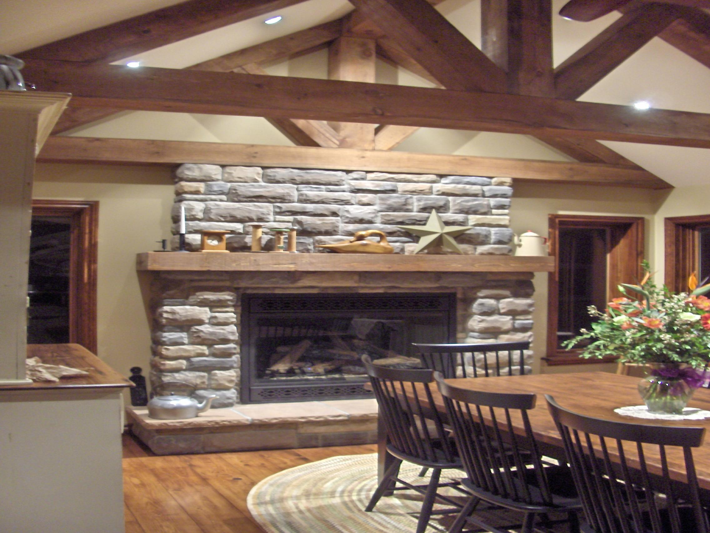 Faux Stone Fireplace Is A Budget Solution For Your Home