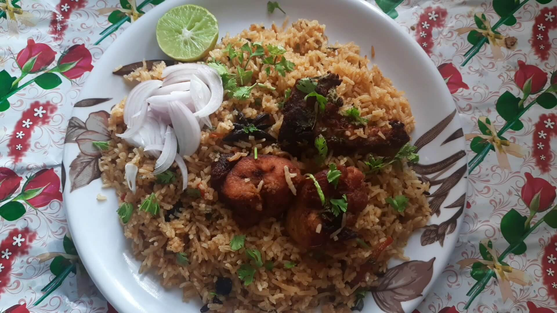 chicken roasted biryani