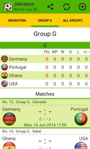 World Cup Tracker App for Android