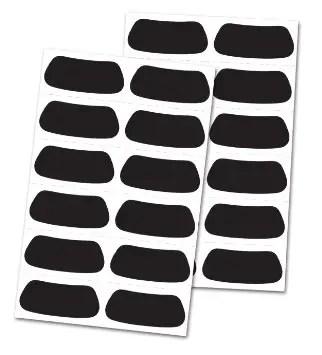 Intimidating eye black designs simple