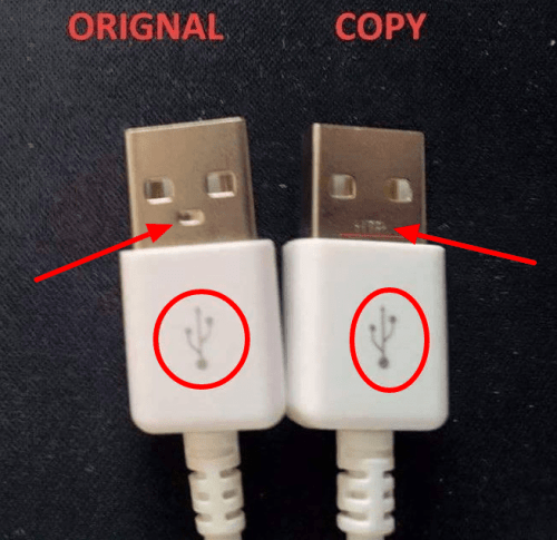 USB Connector - Fake vs Genuine Samsung Chargers/USB Cable