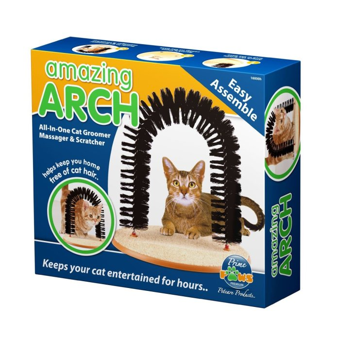 The Prime Paws Amazing Arch — All In One Cat Groomer, Massager & Scratcher