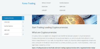crypto trading with Avatrade