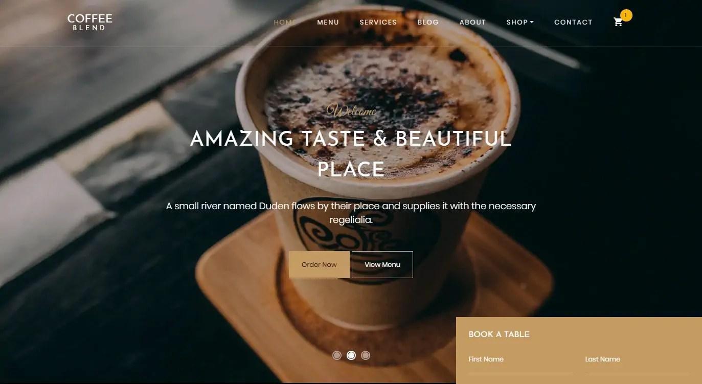 Coffee Blend A Free Coffee Website Template Best Free