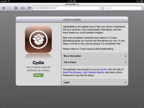 Download Cydia for iPad