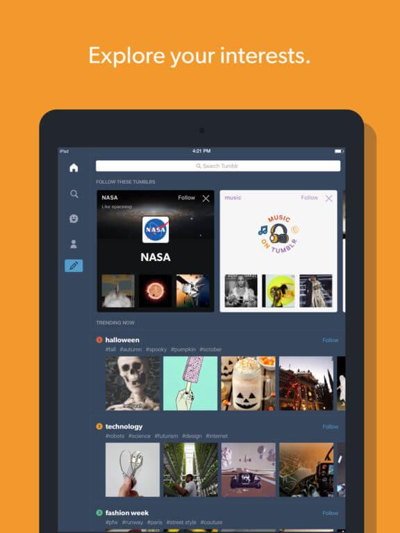 Download Tumblr for iPad