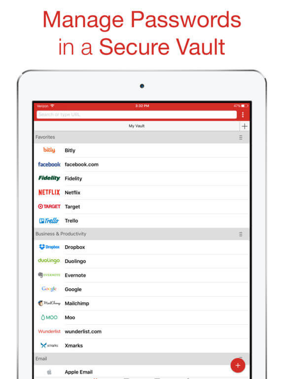 Download LastPass for iPad