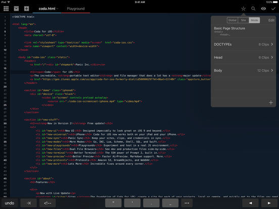 Download Coda For iPad