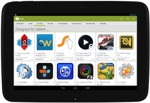 Download Google Play Store for iPad