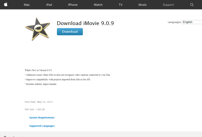 Download iMovie For Mac