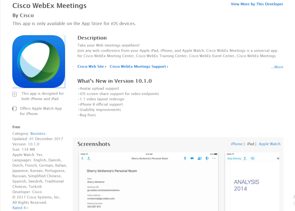 Download WebEx for iPad - Best Free Ipad Apps