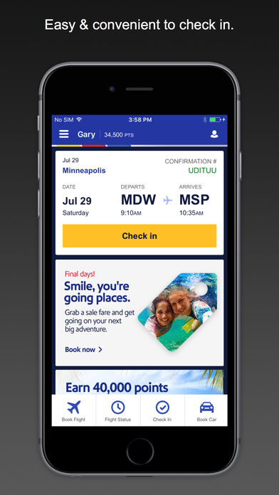 Southwest Airlines App for iPad Free Download