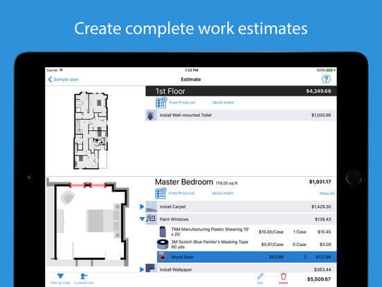 Download Floor Planner App for iPad