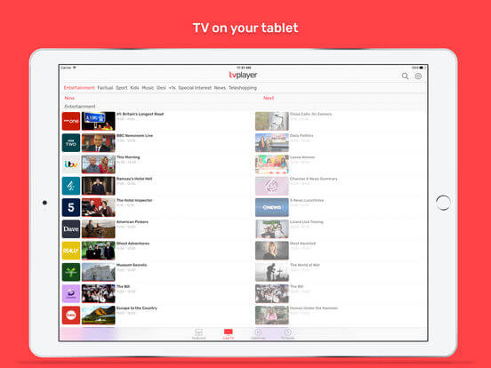 Download Live TV App for iPad