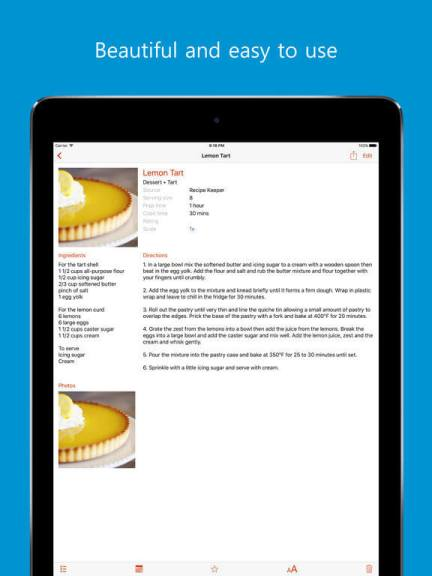 Download Recipe App for iPad