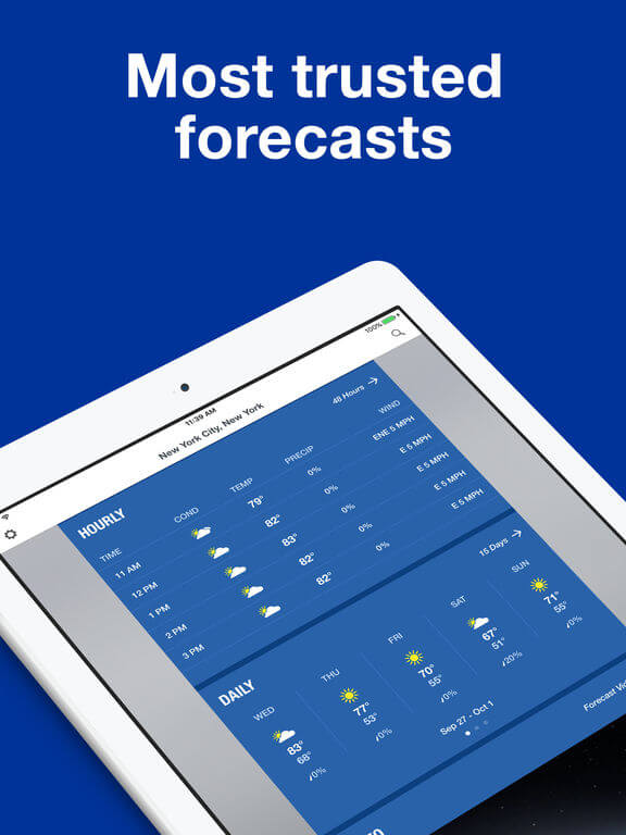Download Weather Channel App for iPad - Best Free Ipad Apps