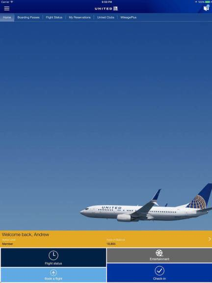Download United Airlines App for iPad