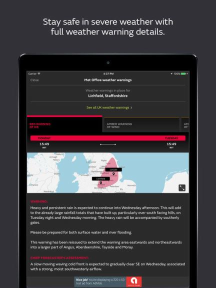 Download Met Office App for iPad