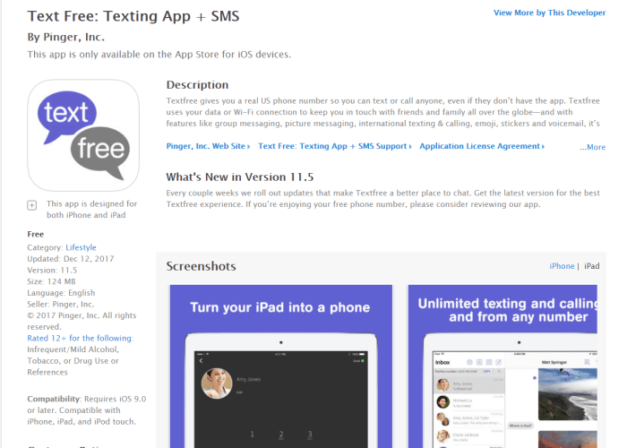 DownloadTexting App for iPad