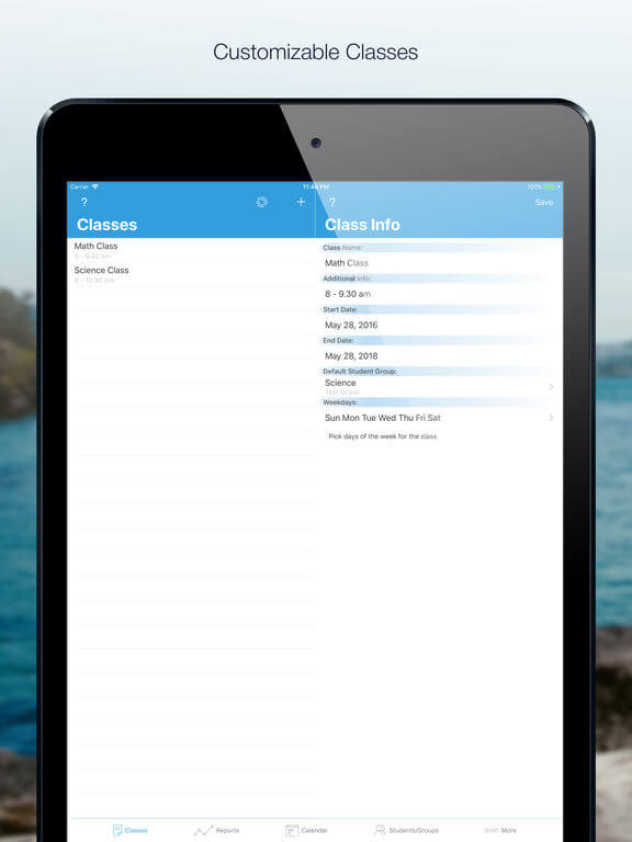 Download Attendance App for iPad