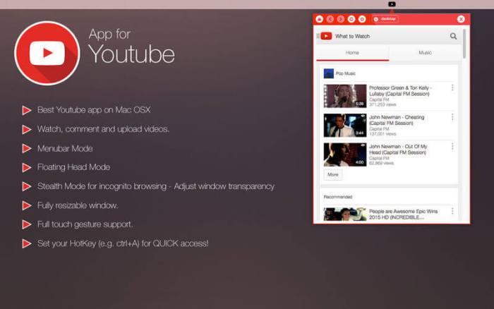 Youtube for Mac