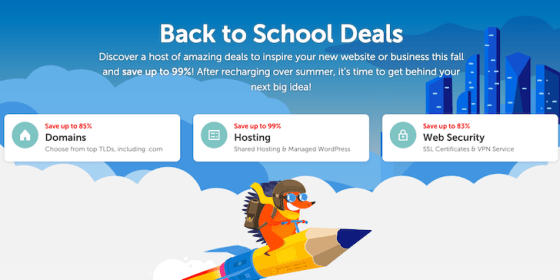 Namecheap Summer Back to School Sale