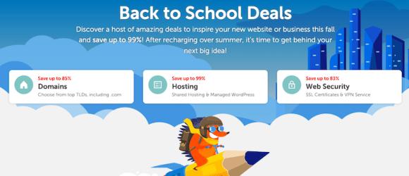 Namecheap Summer Back to School Sale