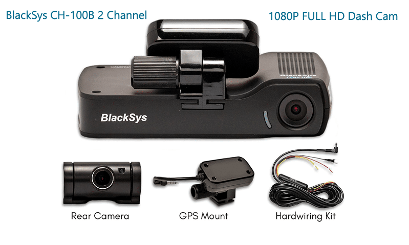 BlackSys CH-100B Review 2 Channel Dash Cam