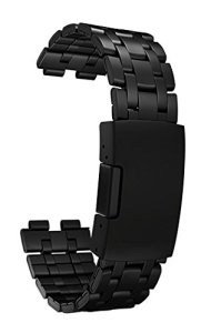 Pebble Steel Metal Watchband Matte Black