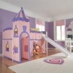 Schoolhouse Twin Princess Loft Bed with Slide