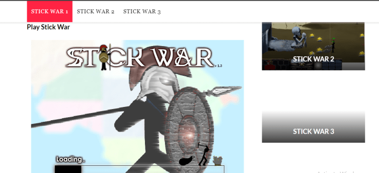 stickwars game unblocked