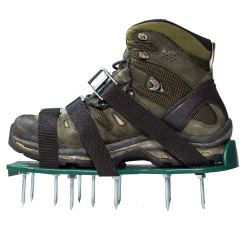 Lawn spike aerator shoes