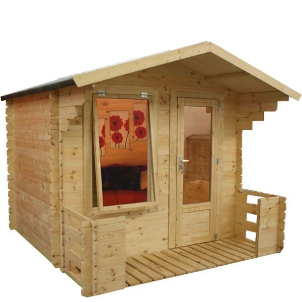 Waltons mini studio log cabin with veranda